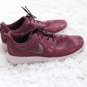 Purple Sparkly Nike Shoes
